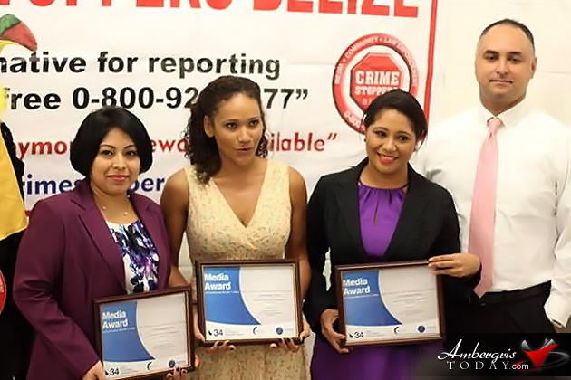Crime Stoppers Belize Wins Awards and Honors Local Media