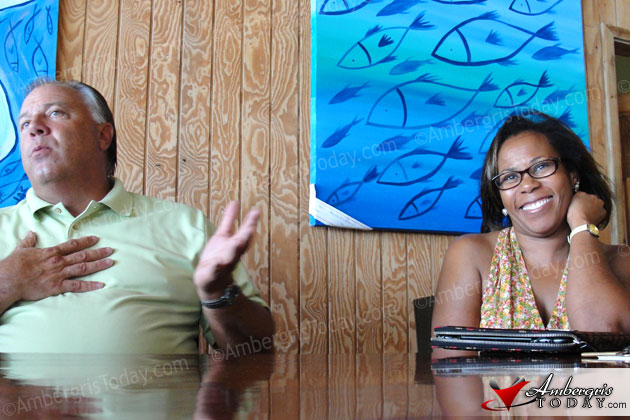Crime Stoppers Belize, Richard Masten and Valerie Hall