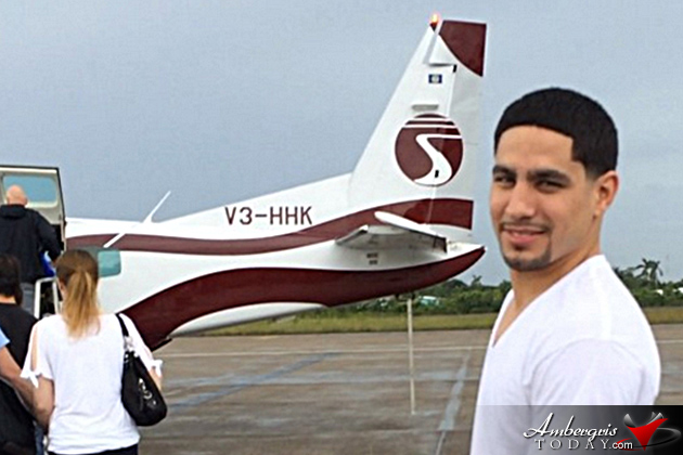 Boxing Champion Danny Garcia Vacationing in San Pedro, Belize