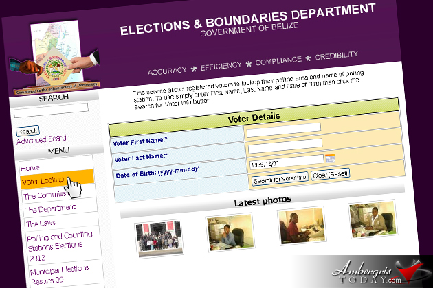Elections and Boundaries Website