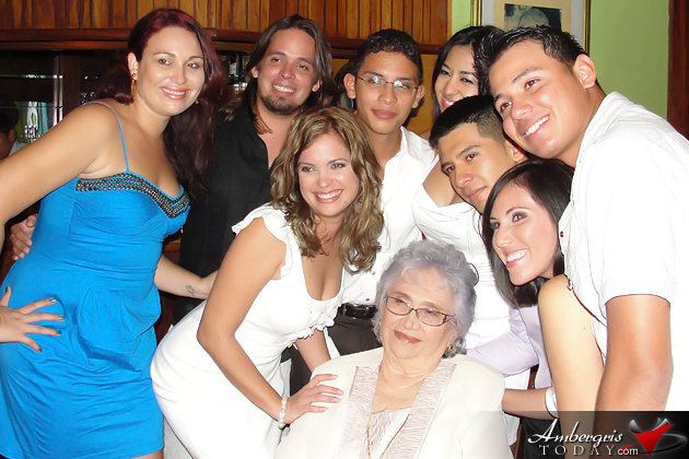 Mrs. Elvia Staines along with her Grandchildren