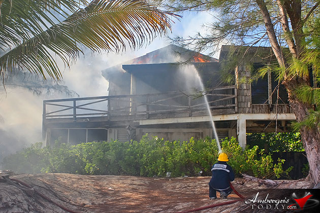 Fire Destroys Abandoned Building Next to Resort
