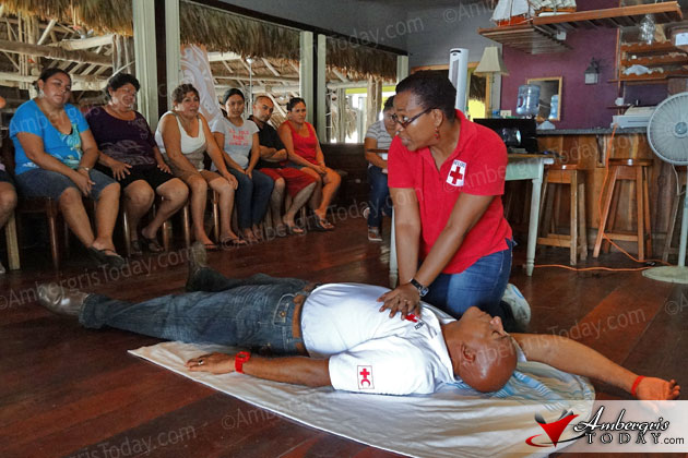 Belize Red Cross member trains Pre-school teachers in First Aid