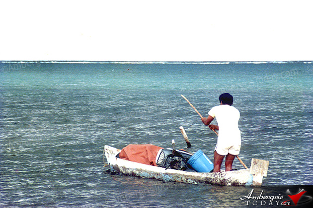 Lobster Fishing in Belize during the cold months of november and december