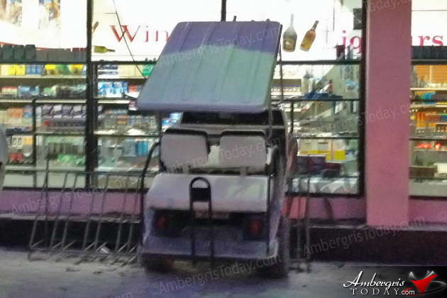 Golf Cart Crashes Into Supermarket