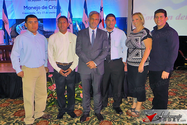 Belize participants at the Tourism and Media Seminar held in Guatemala