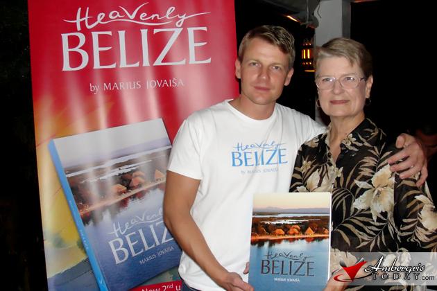 Heavenly Belize Author Marius Jovaisa with Jan Brown