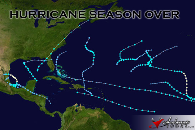Hurricane Season 2013 is over Belize Spared