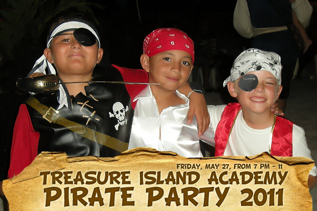 Island Acadely Students Dressed as Pirates