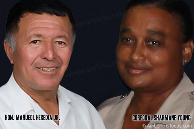 Hon. Manuel Heredia and Corporal Sharmane Young, Liza Marie Mertz Arrest Case