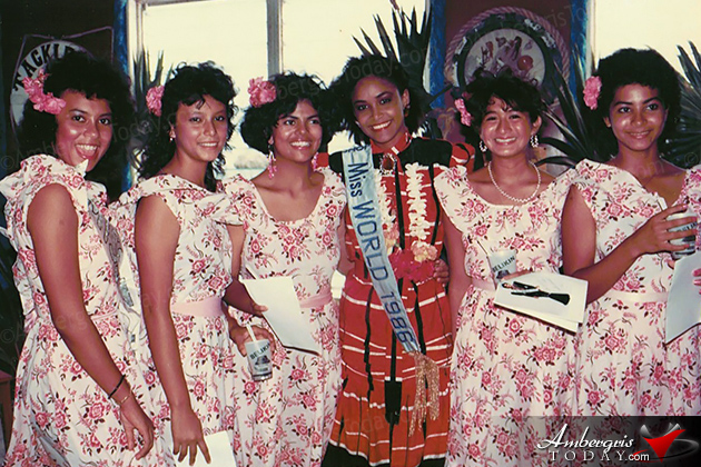 Miss World 1986 Visits San Pedro