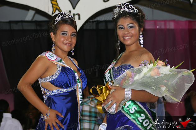 Outgoing Miss SPHS Miriam Rodriguez and Miss SPHS 2012 Arlethe Lima