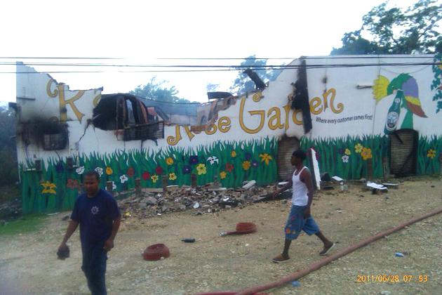 Raul's Rose Garden Burned Down