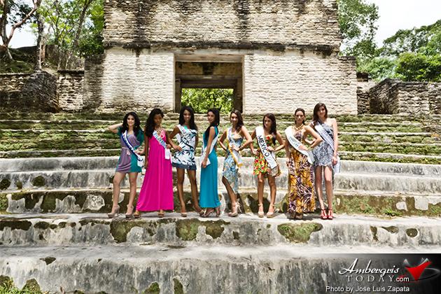 Reina de la Costa Maya Photo Shoot at Cahal Pech by Jose Luis Zapata