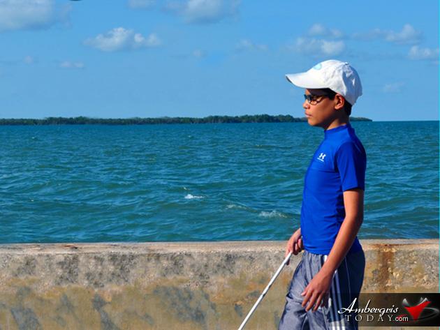 BCVI Rowan Garel Walking Across Belize