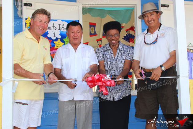 Canary Coves, San Pedro Town Council donate new classroom to primary school