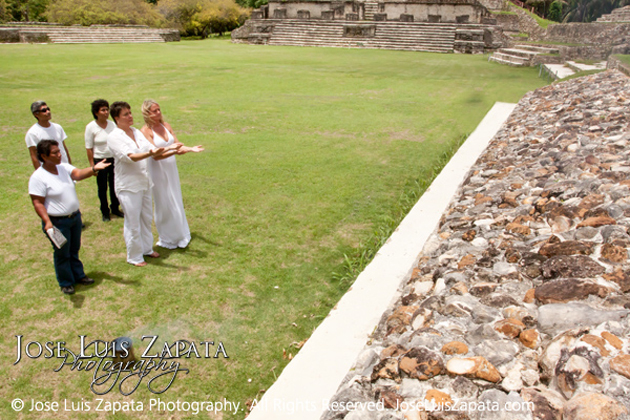 Briton and Danielle at Altun Ha Maya Ruins