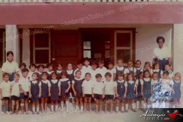 San Pedro Roman Catholic School in the 1980's -Teacher Miss Marhita Leslie