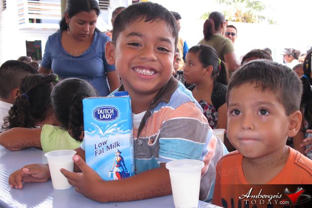 Roman Catholic School children enjoy Dutch Lady Milk
