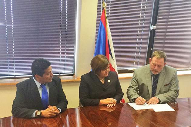 Signing of Maya 2020 Project Agreement for Belize