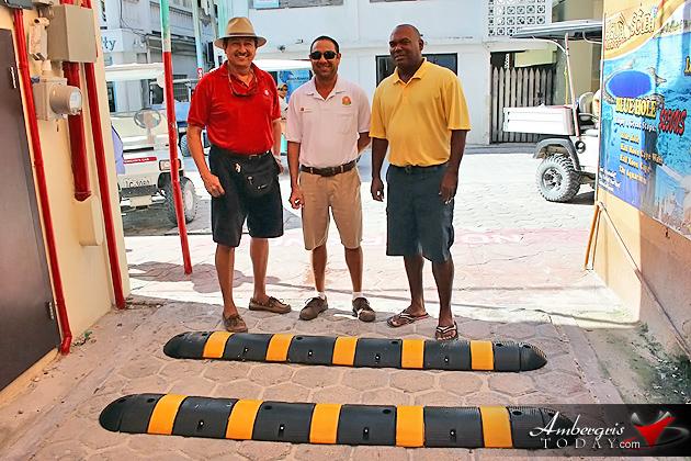 Ramon's Village Donates Speed Bumps to Town