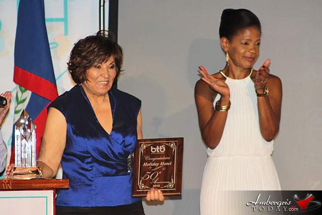 Celi McCorkle honored at Belize Tourism Awards 2015, Belize Tourism Board
