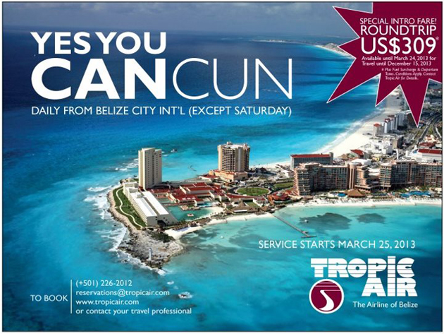 Tropic Air Announces Service From Belize City to Cancun, Mexico