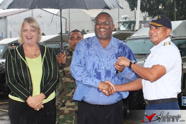 Belize Coast Guard and BDF Receive 2 Million Dollars in Equipment