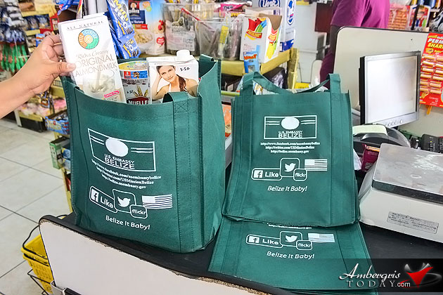 VIP Party Pushes Recyclable Shopping Bag Program in Ambergris Caye