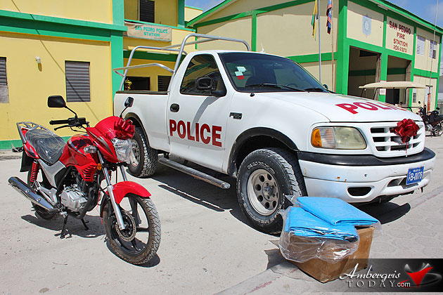 San Pedro Town Council Donates Truck and Motorcycle to Police Department