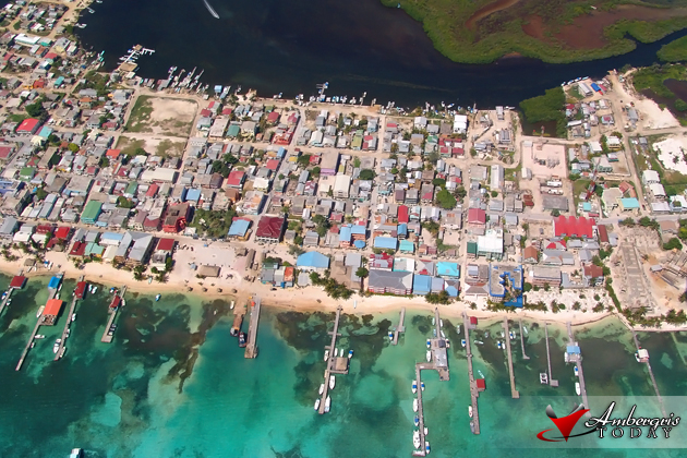 Aerial View of San Pedro Town, Ambergris Caye, Belize