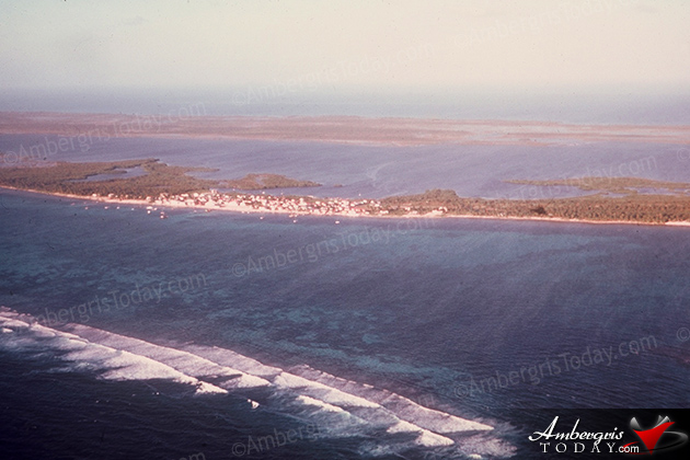 Aerial of San Pedro, Ambergris Caye In The 60's