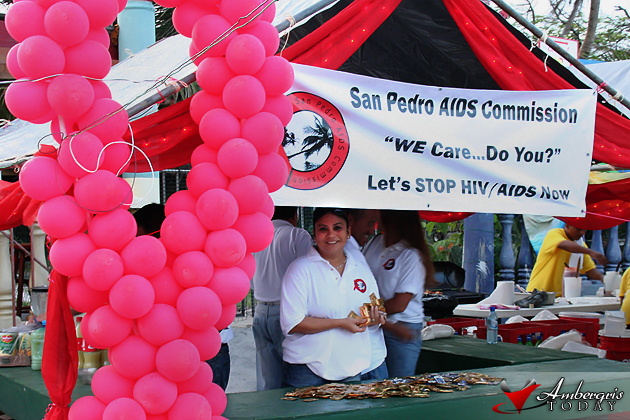 Zoby Ayuso manning the AIDS Commission booth at Lobsterfest