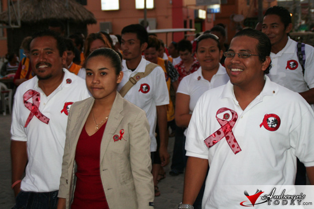 World AIDS Day Observed In San Pedro, Belize