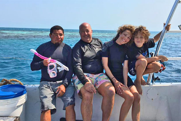 Celebrity Spotting – Travel Channel's Andrew Zimmern Visits Blue Hole