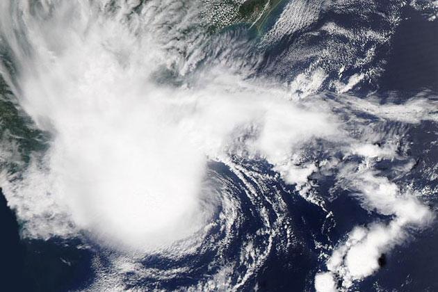Tropical Storm Alberto in the Atlantic Ocean