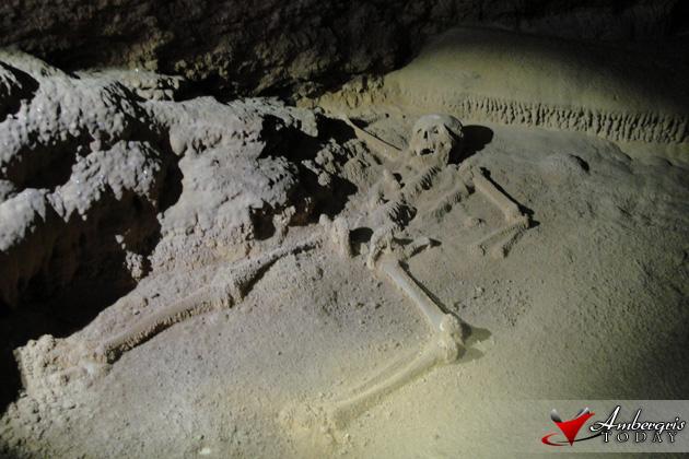 Sacrificial Skeletal Remains of female deep inside ATM Cave