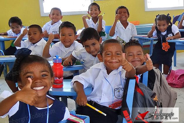 School children of San Pedro head back to classes