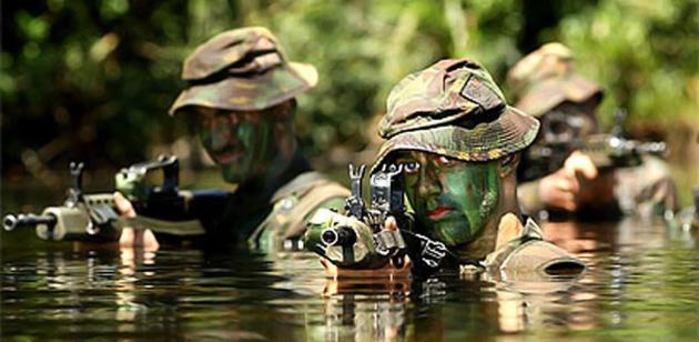 Batsub Soldiers training in Belize