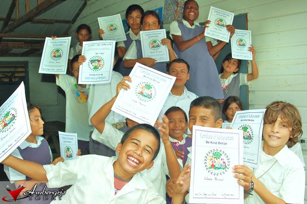 Mr. Zetina and Be Kind Belize Graduates