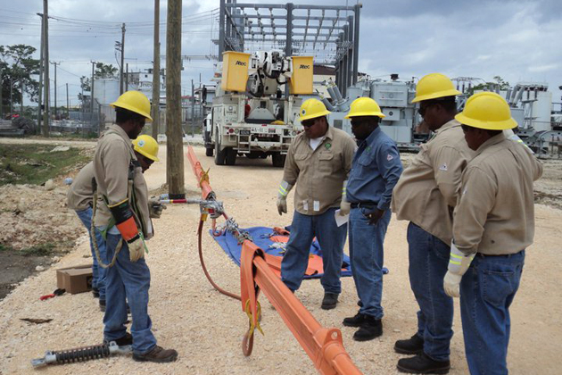 Belize Electricity Limited workers