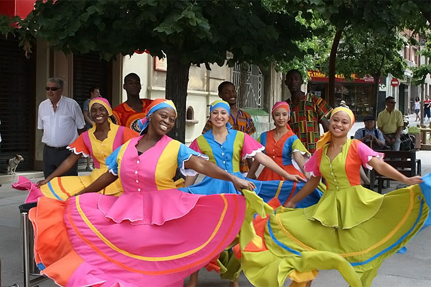 Belize Dance Company's Folkloric and Cultural Dance Presentations in Rubi Spain
