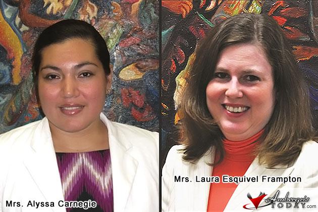 Alyssa Carnegie and Larua Esquivel Frampton