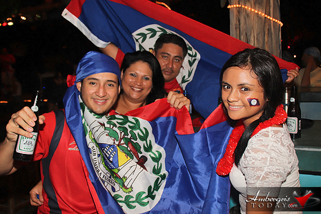 Celebrating Gold Cup Game Belize National Football Team Jaguars
