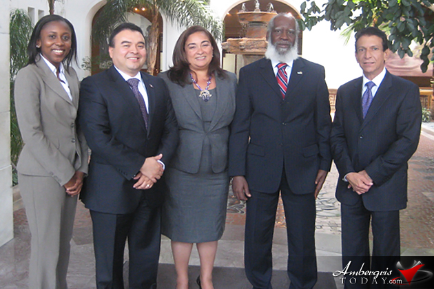 Foreign Ministers, Wilfred Elrington & Harold Caballeros met with OAS Secretary