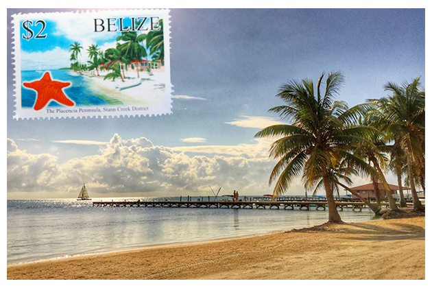 Belize Vacation Give-Away on Postage Stamp