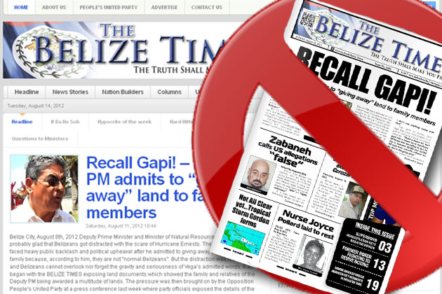 Belize Times Cancels Print Edition – Available Online Only!