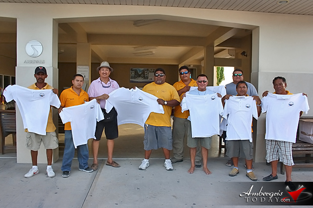 Belize Tourism Board Presents New Uniforms San Pedro Airstrip Taxi Association