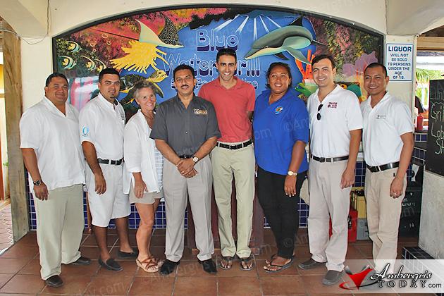 BTIA President Herbert Haylock and Executive Director Efren Perez in San Pedro