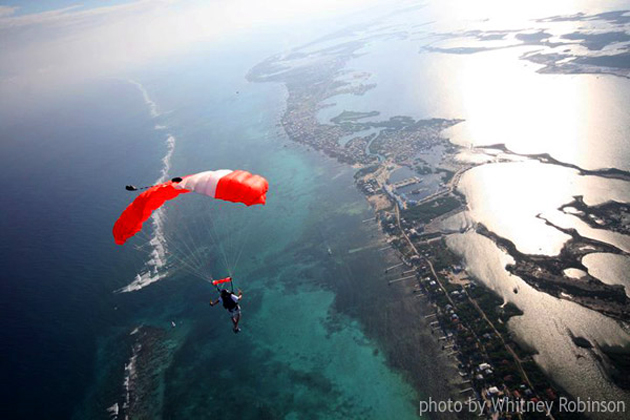 Boogie in Belize skydiving over Ambergris Caye